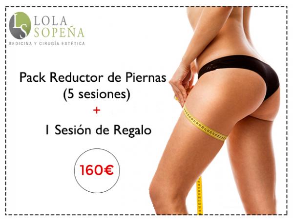 160€ Pack Reductor De Piernas ( 5 Sesiones + 1 Sesión de Regalo)