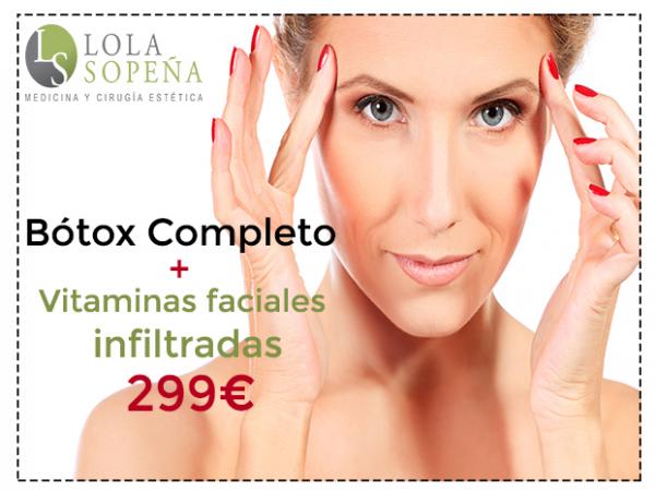 299€ Botóx Completo + Vitaminas Faciales Infiltradas