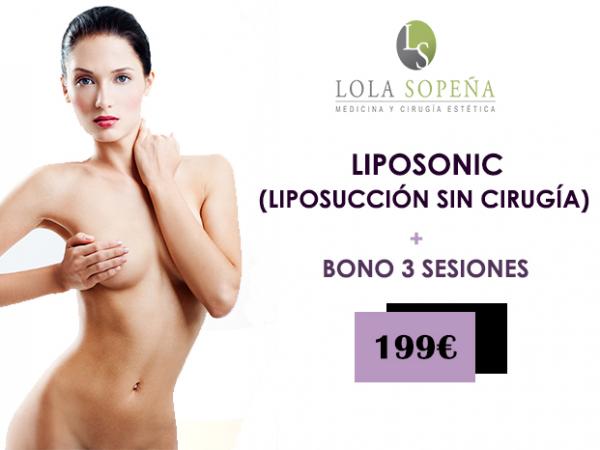 199€ Liposonic (Liposucción sin cirugía) + Bono 3 sesiones