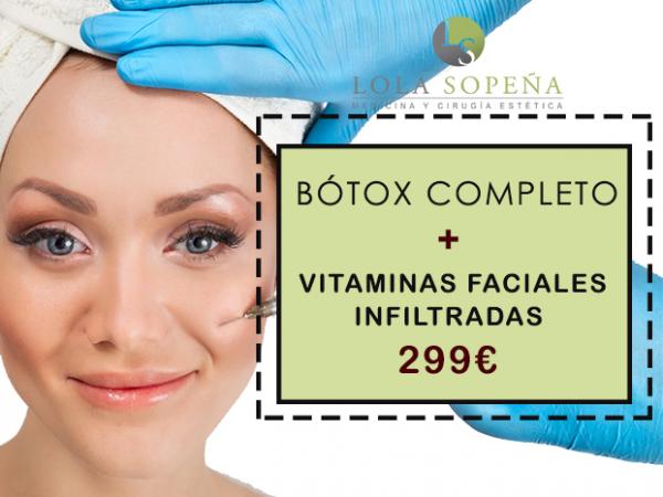 299€ Botóx Completo + Vitaminas Faciales Infiltradas  en TodoEstetica.com