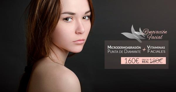 Microdermoabrasión con Punta de diamante + Vitaminas Faciales 160€ (antes 180€)
