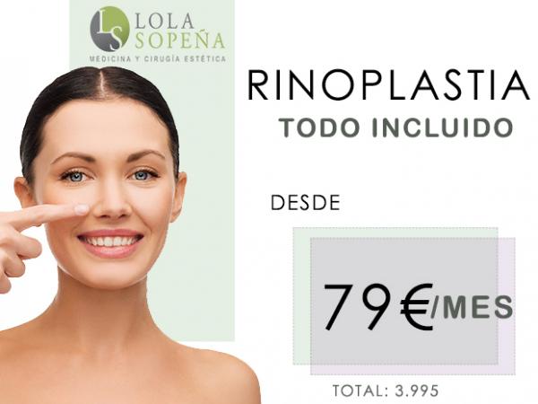 79€/mes por Rinoplastia con Todo Incluido