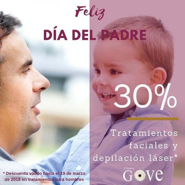 30% Dto. Tratamientos faciales y Depilación láser Hombre