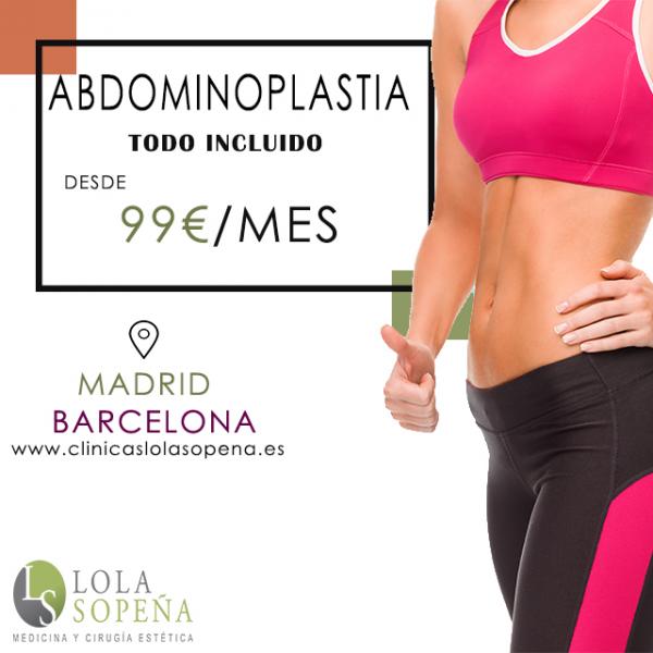 Desde 99€/mes por abdominoplastia con todo incluido en TodoEstetica.com
