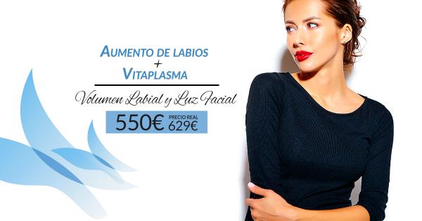 Aumento de labios Volift + Vitaminas faciales + PRP 550€