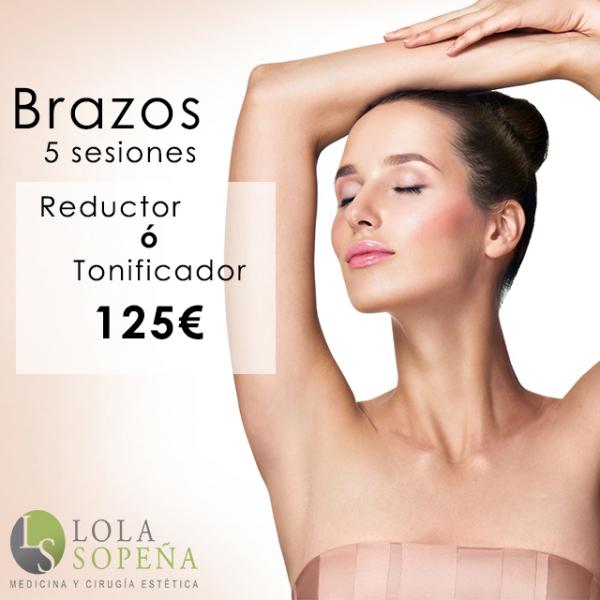 Reduce ó Tonifica tus brazos con 5 sesiones por sólo 125€