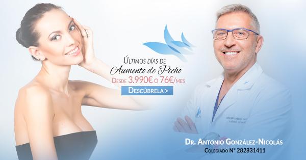 Cirugía de aumento de senos con más de 300 euros de descuento. Solo hasta el 31 de marzo