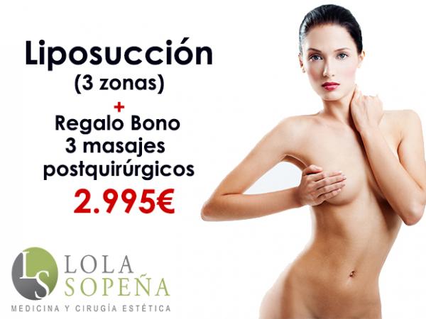 Desde 70€/mes Liposucción 3 zonas + Regalo Bono 3 masajes postquirúrgicos