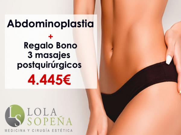 Desde 99 €/mes Abdominoplastia + Regalo Bono 3 masajes postquirúrgicos