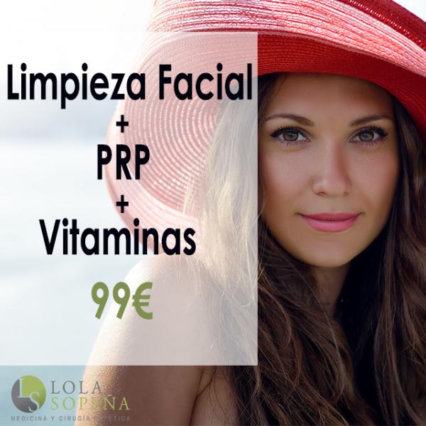 99€ Limpieza Facial + PRP + Vitaminas