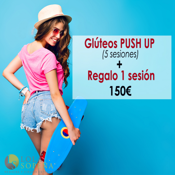 150€ 5 sesiones + Regalo 1 sesión Glúteos Push UP en TodoEstetica.com