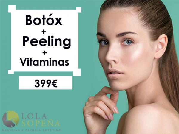 399€ Botox + Peeling + Vitaminas