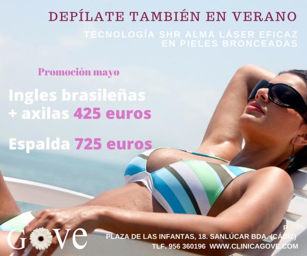 Promoción Mayo depilación láser en TodoEstetica.com