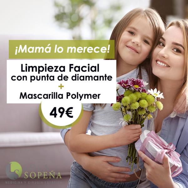 49€ Limpieza facial con punta de diamante + Mascarilla Polymer  en TodoEstetica.com