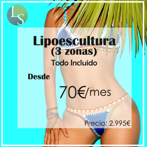 Desde 70€ Lipoescultura (3 zonas) Todo Incluido