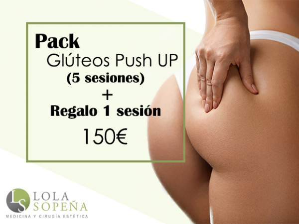 150€ 5 sesiones + regalo 3 sesiones de Glúteos Push UP