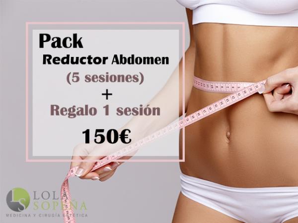 150€ Pack Reductor de abdomen 5 sesiones + Regalo 1 sesión