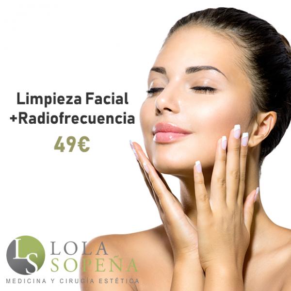 Limpieza facial completa + Radiofrecuencia 49€