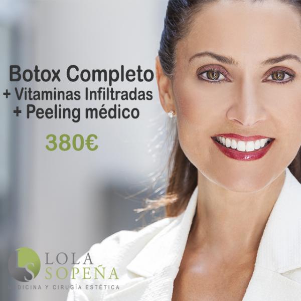 Botox Completo + Peeling Médico + Vitaminas Infiltradas 380€