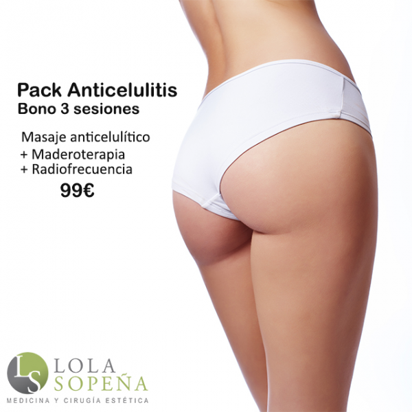 Pack Anrticelulitis Bono 3 sesiones 99€ en TodoEstetica.com