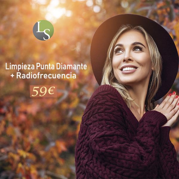 Limpieza con punta diamante + Radiofrecuencia 59€