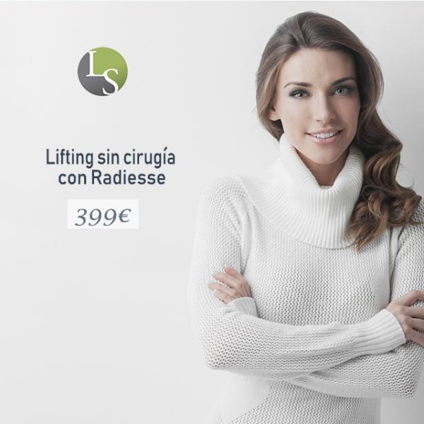 Lifting sin cirugía con Radiesse 399€ en TodoEstetica.com
