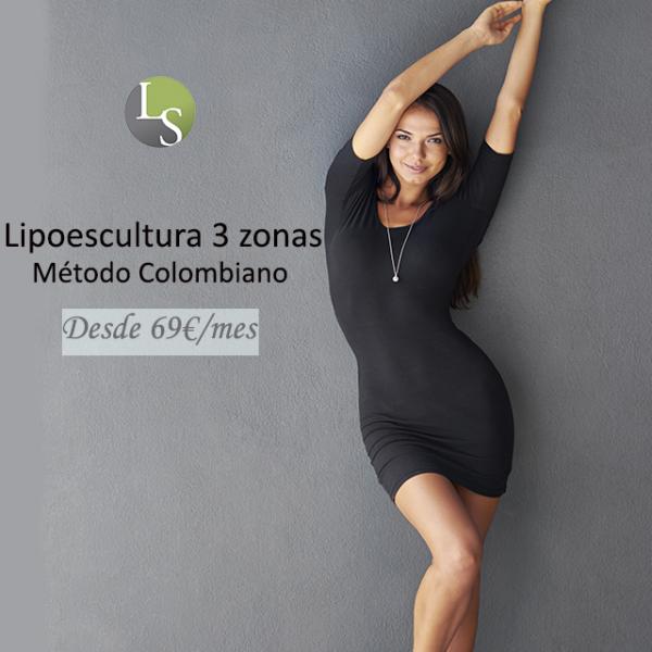 Lipoescultura 3 zonas desde 69€/mes en TodoEstetica.com