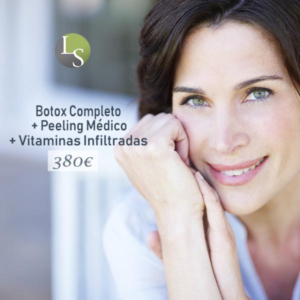 Botox Completo + Peeling Médico + Vitaminas 380€  en TodoEstetica.com