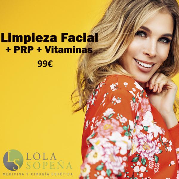Limpieza facial + PRP + Vitaminas 99€ ¡Plazas limitadas!