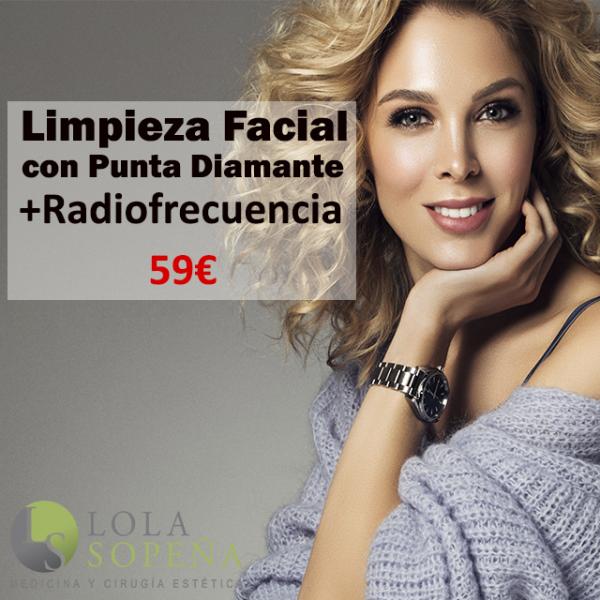 Limpieza con punta diamante + Radiofrecuencia 59€ en TodoEstetica.com