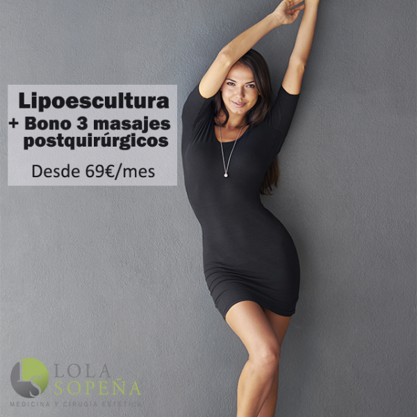 Lipoescultura (3 zonas) + Bono 3 masajes postquirúrgicos desde 69€/mes