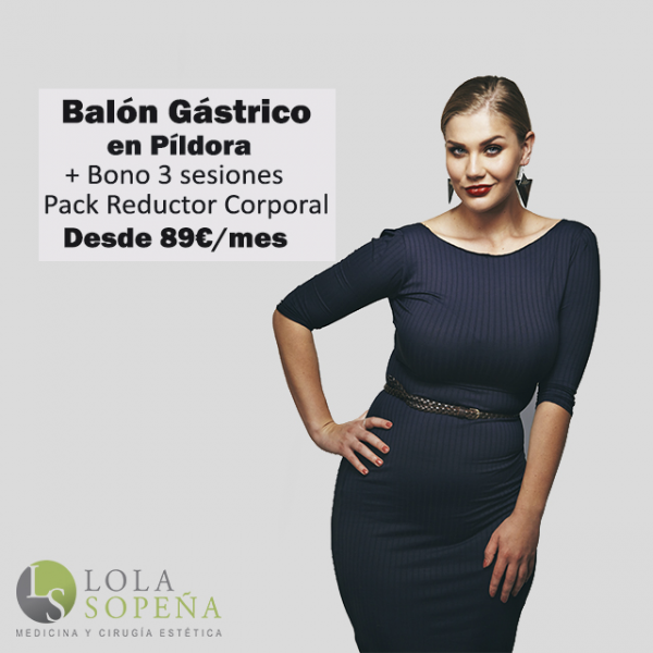 Balón Gastrico en Píldora + Bono 3 sesiones Pack Reductor desde 89€/mes