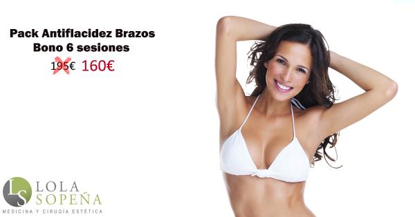 Pack Antiflacidez Brazos bono 6 sesiones por 160€