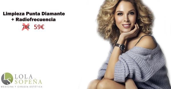 Limpieza facial con punta diamante + Radiofrecuencia 59€