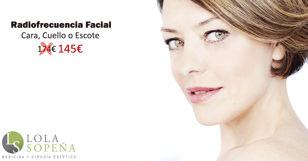 Radiofrecuencia Facial Bono 6 sesiones145€