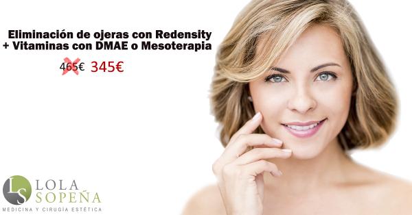 Eliminación de ojeras con Redensity + Vitaminas con DMAE 345€