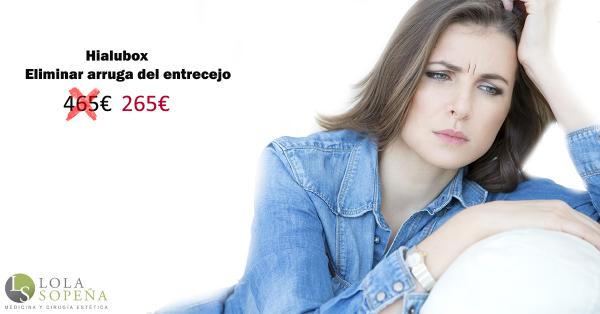 Elimina arruga de entrecejo con Hialubox 265€ en TodoEstetica.com
