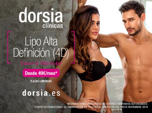 Liposucción Alta Definición 4D (Vaser & Microair) desde 49€ al mes