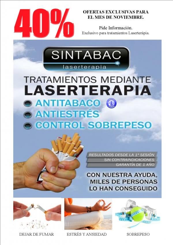 40% de descuento en todos nuestros tratamientos de Laserterapia en NOVIEMBRE en TodoEstetica.com