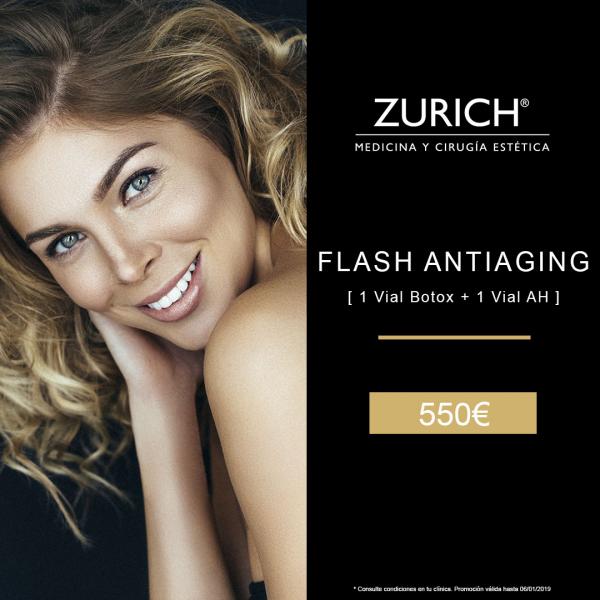 Flash Antiaging: Rejuvenecimiento facial Bótox + Ácido Hialurónico