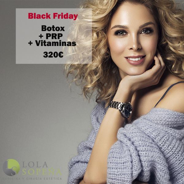 Botox entrecejo, patas gallo y frente + PRP + Vitaminas 320€  en TodoEstetica.com