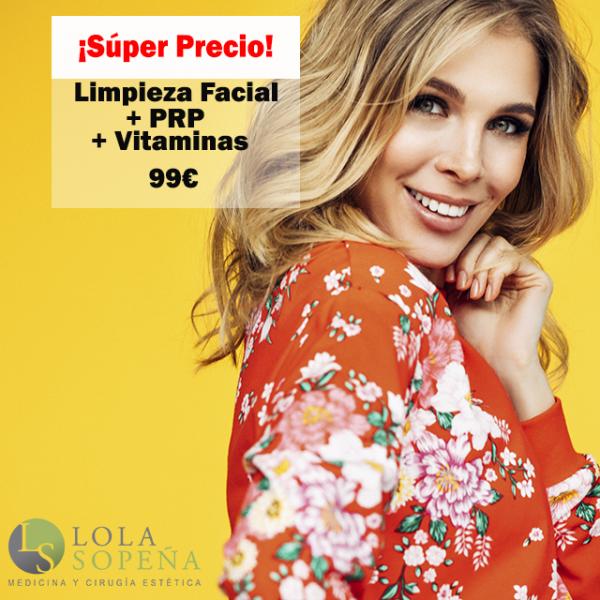 Limpieza facial + PRP + Vitaminas 99€