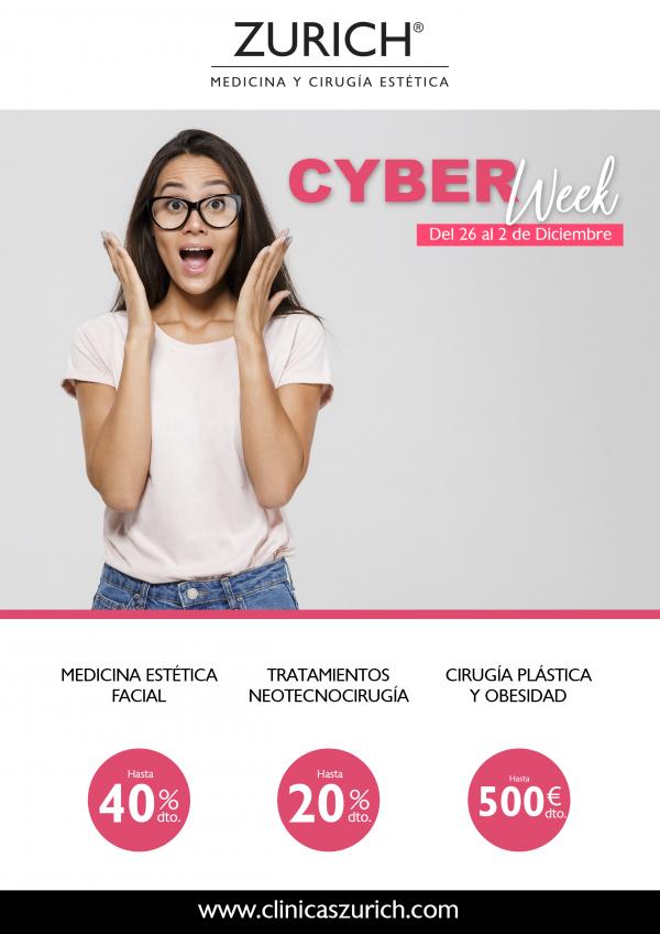 Cyber Week de Clínicas Zurich - Descuentos increibles hasta el 2 de Diciembre en TodoEstetica.com