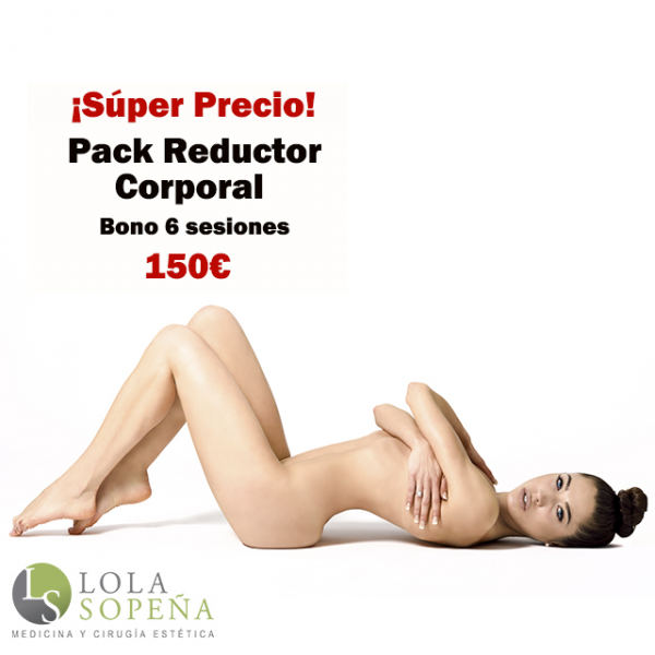 Pack Reductor Corporal Bono 6 sesiones 160€