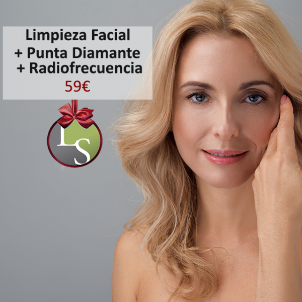 Limpieza Facial + Punta Diamante + Radiofrecuencia 59€