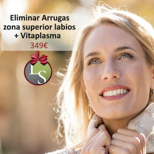 Eliminar arrugas de la zona superior del labio + Vitaplasma 349€