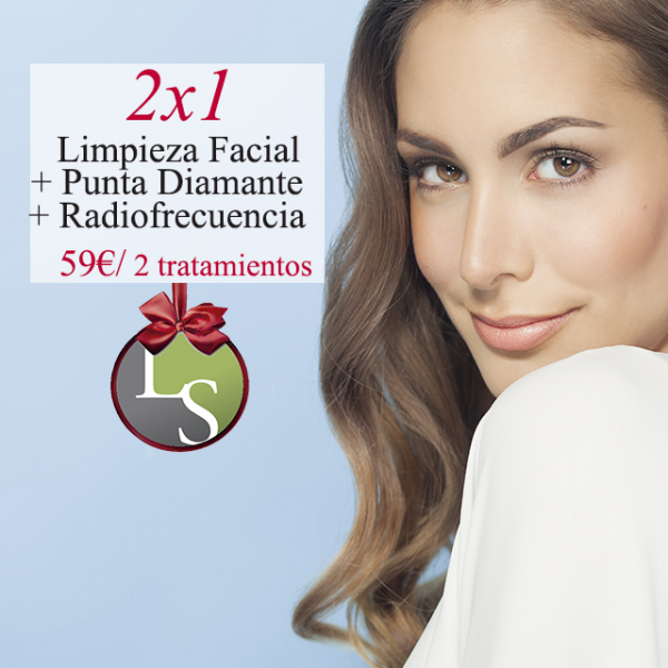 2x1 Limpieza facial + Punta diamante + Radiofrecuencia 59€ x 2 tratamientos
