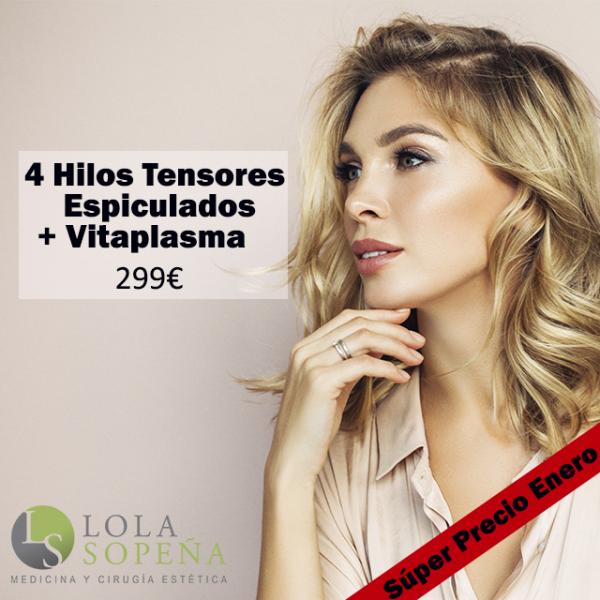 4 Hilos Tensores Espiculados + Vitaminas + PRP 299€