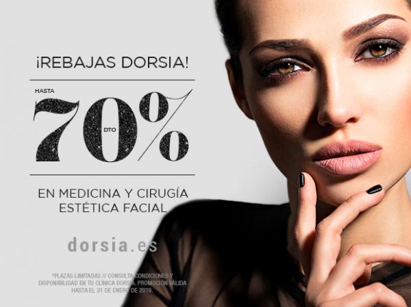 ¡Rebajas! Tratamientos faciales hasta 70% de descuento.