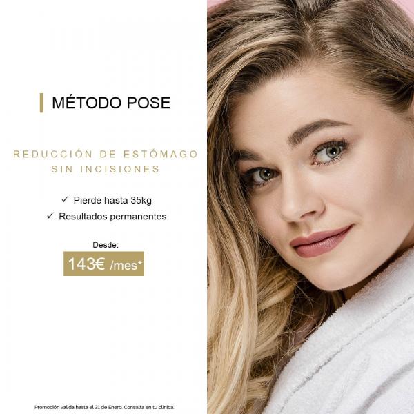 Adelgazar sin cirugía con el Método POSE - Desde 143 €/mes - Solo en Enero en TodoEstetica.com